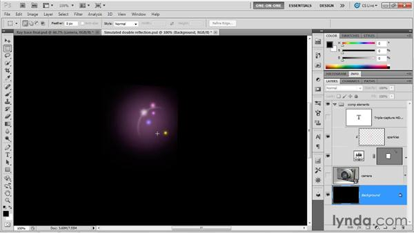 Adding depth and highlights in 2D: Photoshop CS5 Extended One-on-One: 3D Scenes