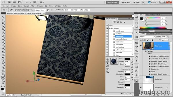 Making a patterned, textured surface: Photoshop CS5 Extended One-on-One: 3D Scenes