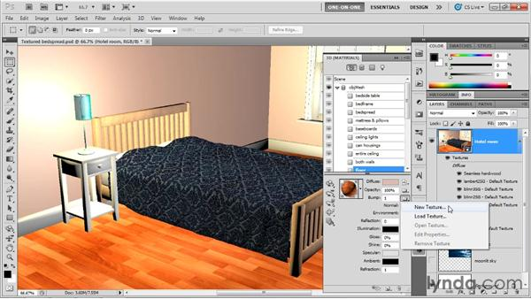Creating a highly polished hardwood floor: Photoshop CS5 Extended One-on-One: 3D Scenes