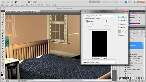 Adding a 2D sky to a 3D window: Photoshop CS5 Extended One-on-One: 3D Scenes