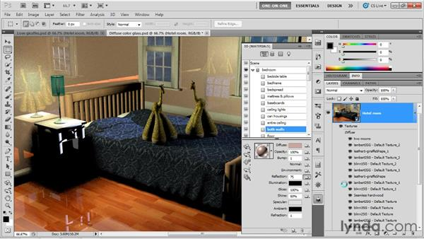 Designing a custom reflection map: Photoshop CS5 Extended One-on-One: 3D Scenes