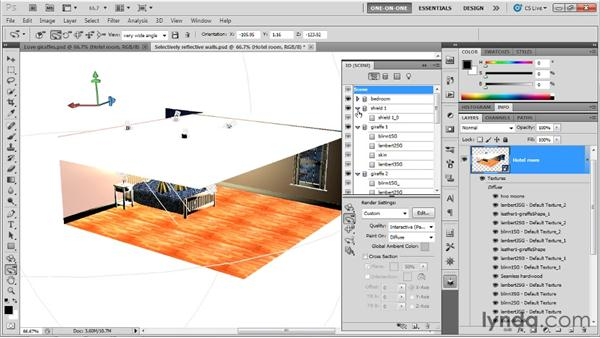 Shielding the distant edge of a scene: Photoshop CS5 Extended One-on-One: 3D Scenes