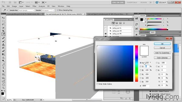 Casting light through an opacity map: Photoshop CS5 Extended One-on-One: 3D Scenes