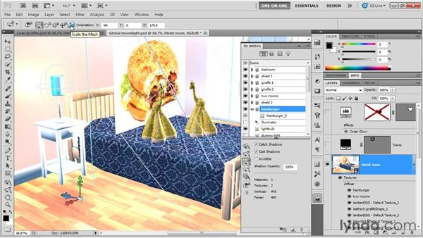 Making wall art with a 3D postcard: Photoshop CS5 Extended One-on-One: 3D Scenes