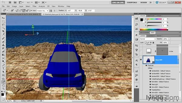 Creating the perfect straight-on view: Photoshop CS5 Extended One-on-One: 3D Scenes