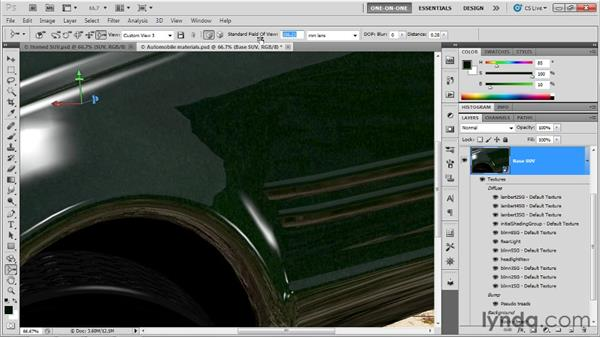 Depth of field vs. field of view: Photoshop CS5 Extended One-on-One: 3D Scenes