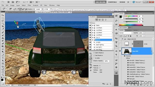 Establishing symmetrical meshes: Photoshop CS5 Extended One-on-One: 3D Scenes