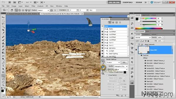 Employing a self-illuminated mesh: Photoshop CS5 Extended One-on-One: 3D Scenes