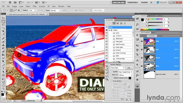 Photoshop's 3D rendering presets: Photoshop CS5 Extended One-on-One: 3D Scenes