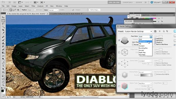 Working with the Face Style options: Photoshop CS5 Extended One-on-One: 3D Scenes