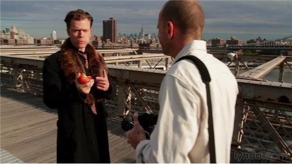Wrapping up the shoot: Narrative Portraiture: On Location in New York City