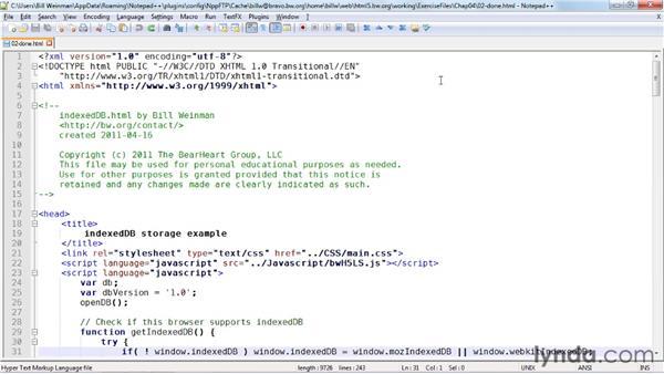 Understanding the IndexedDB API: HTML5: Local Storage and Offline Applications in Depth