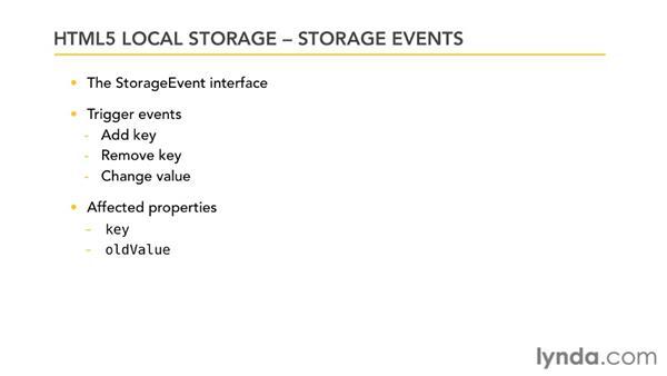 Understanding storage events: HTML5: Local Storage and Offline Applications in Depth
