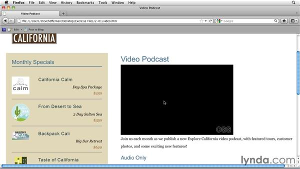 Using the video and audio tags: HTML5: Video and Audio in Depth