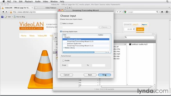 Encoding audio formats with VLC: HTML5: Video and Audio in Depth