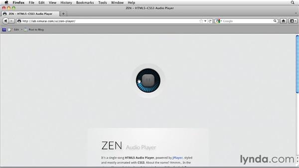 ZEN Audio Player by simurai: HTML5: Video and Audio in Depth