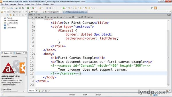Using the HTML5 Canvas element in the real world: HTML5: Graphics and Animation with Canvas
