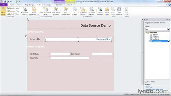 Understanding data sources: InfoPath 2010 Essential Training