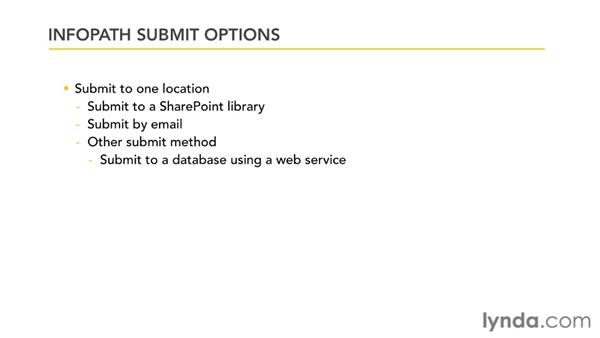 Understanding submit options: InfoPath 2010 Essential Training