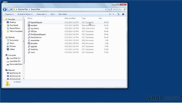 Viewing the files InfoPath Designer creates: InfoPath 2010 Essential Training