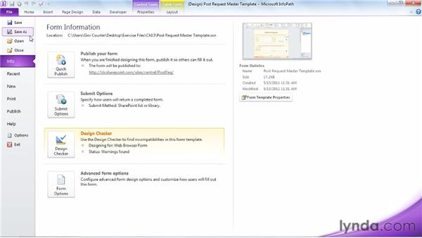 Creating SharePoint library views for InfoPath forms: InfoPath 2010 Essential Training