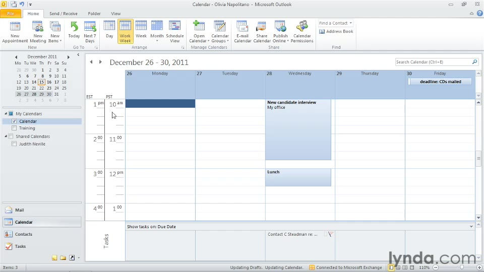 Calendar Time Zone Planner : Showing time zones in an appointment outlook