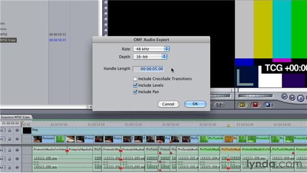 Exporting OMF and AAF files: Audio for Film and Video with Pro Tools