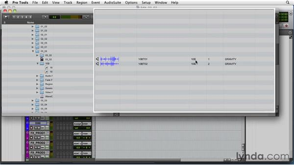 Importing and the DigiBase browser: Audio for Film and Video with Pro Tools