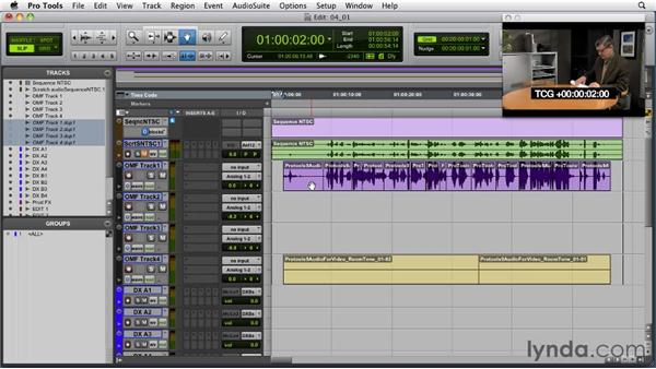 Organizing the dialog tracks: Audio for Film and Video with Pro Tools
