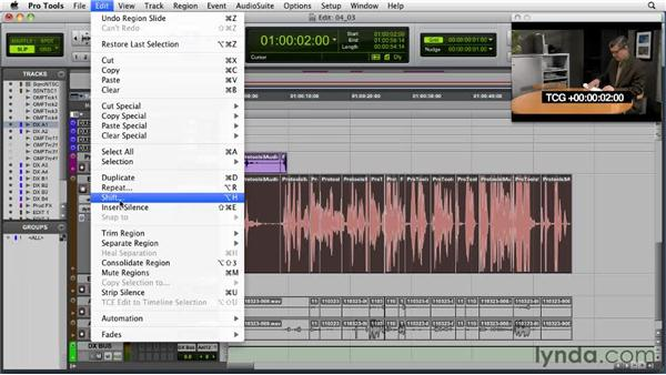 Using room tone: Audio for Film and Video with Pro Tools