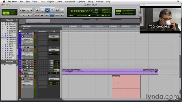 Creating fades to smooth out audio edits: Audio for Film and Video with Pro Tools