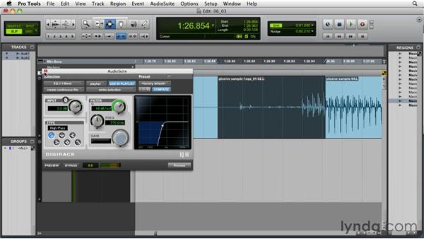 Taming plosives and sibilance: Audio for Film and Video with Pro Tools