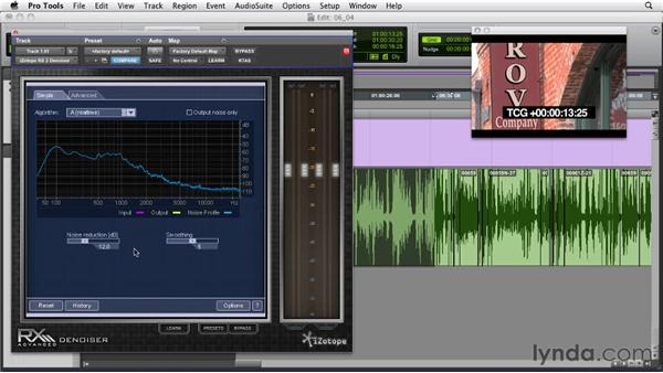 Reducing broadband noise: Audio for Film and Video with Pro Tools