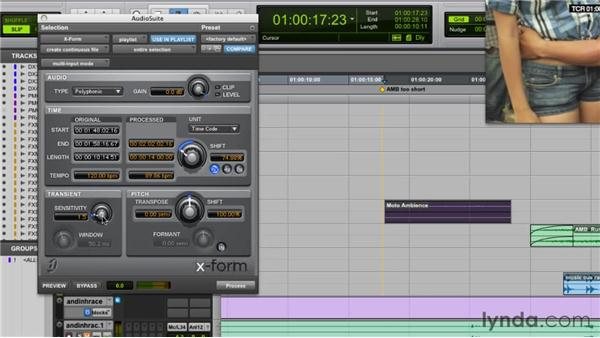 Pitch shifting for effect or utility, TC expansion: Audio for Film and Video with Pro Tools