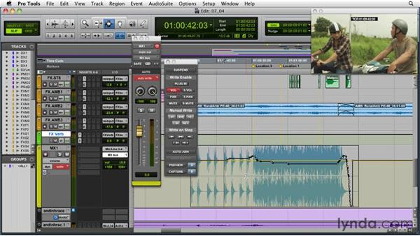 Advanced mix automation: Audio for Film and Video with Pro Tools