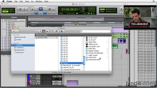 Backing up your final project: Audio for Film and Video with Pro Tools