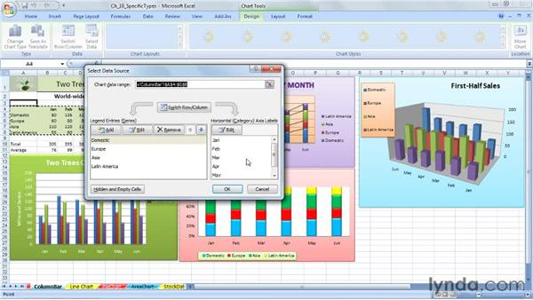 Using column and bar charts: Excel 2007: Charts in Depth