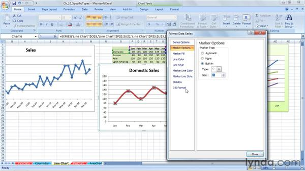 Using line charts: Excel 2007: Charts in Depth