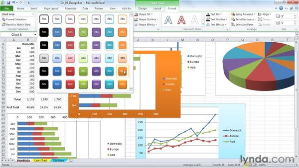 Setting a default chart type and creating a template: Excel 2010: Charts in Depth
