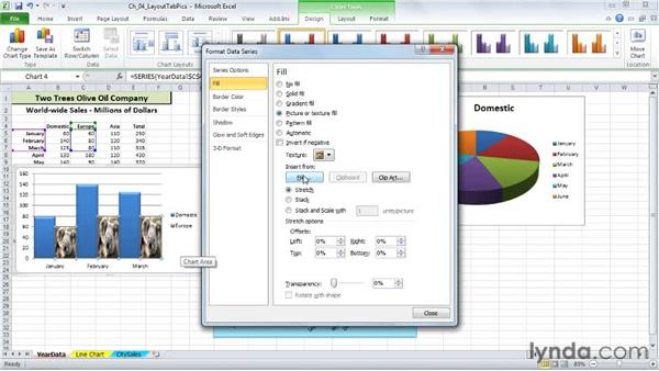 Using pictures as chart elements: Excel 2010: Charts in Depth