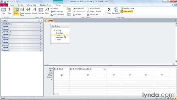 Calculating time intervals: Access 2010: Queries in Depth