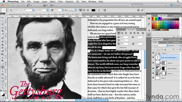 Welcome: Photoshop for Designers: Type Essentials