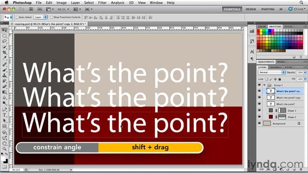 Copying a type layer: Photoshop for Designers: Type Essentials