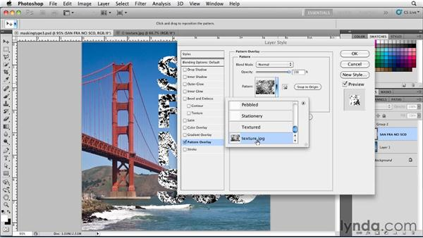 Masking with Pattern Overlay: Photoshop for Designers: Type Essentials