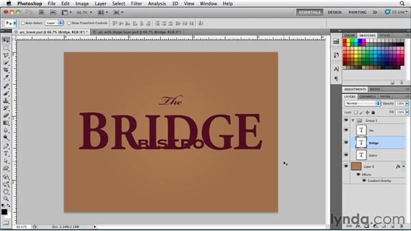 Converting type to shape layers: Photoshop for Designers: Type Essentials
