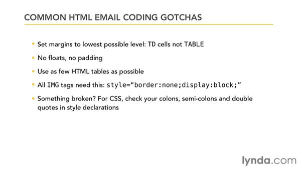 Preventing problems with email coding: Effective HTML Email and Newsletters