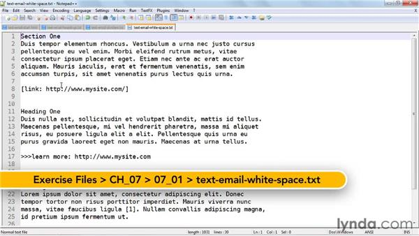 Designing a plain text email: Effective HTML Email and Newsletters