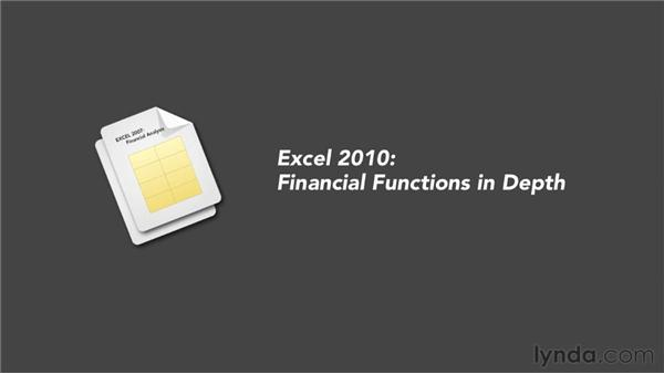Disclaimer: Excel 2010: Financial Functions in Depth