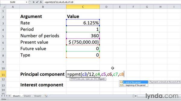 ppmt and ipmt  calculating principal and interest per loan