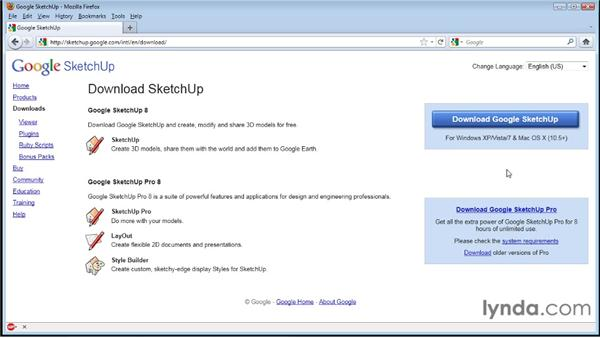 Installing SketchUp : SketchUp 8 Essential Training